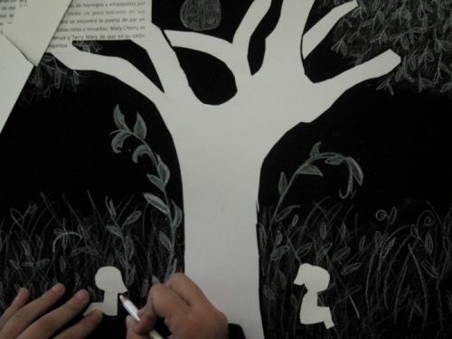 la-casa-de-las-quimeras-talleres-trabajo-de-siluetas-con-collage-de-una-alumna1
