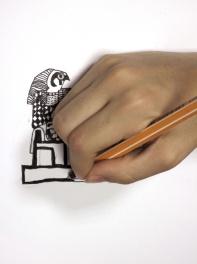 la casa de las quimeras - talleres -Dios egipcio Horus - Gabriel S - 11 años